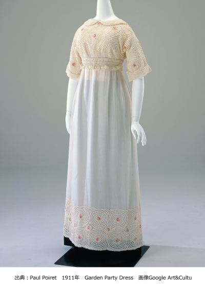 ポールポワレのコルセットのないドレス